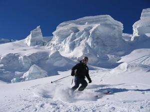 Descente de la Vallée Blanche en ski